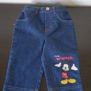 Disney Jean's 6-9m Mickey Mouse